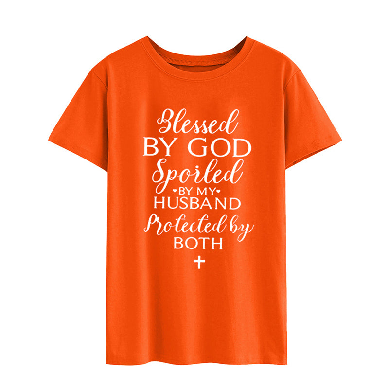 Blessed By God Women Loose Casual Tops - fashionshoeshouse