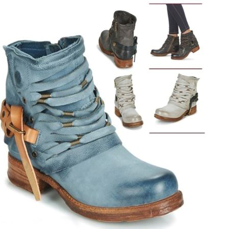 Women Winter Fall Booties Fashion Short Platform Boots