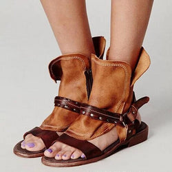Zipper 2 Strap Platform Sandals Women - fashionshoeshouse