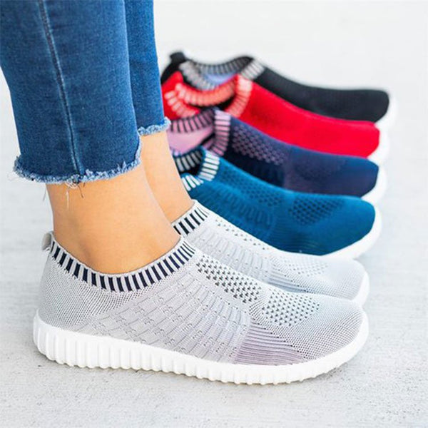 Breathable Women Shoes Mesh Comfy Big Size Loafers Sneakers - fashionshoeshouse