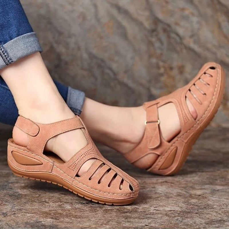 Women Summer Hollow Out Wedge Sandals - fashionshoeshouse
