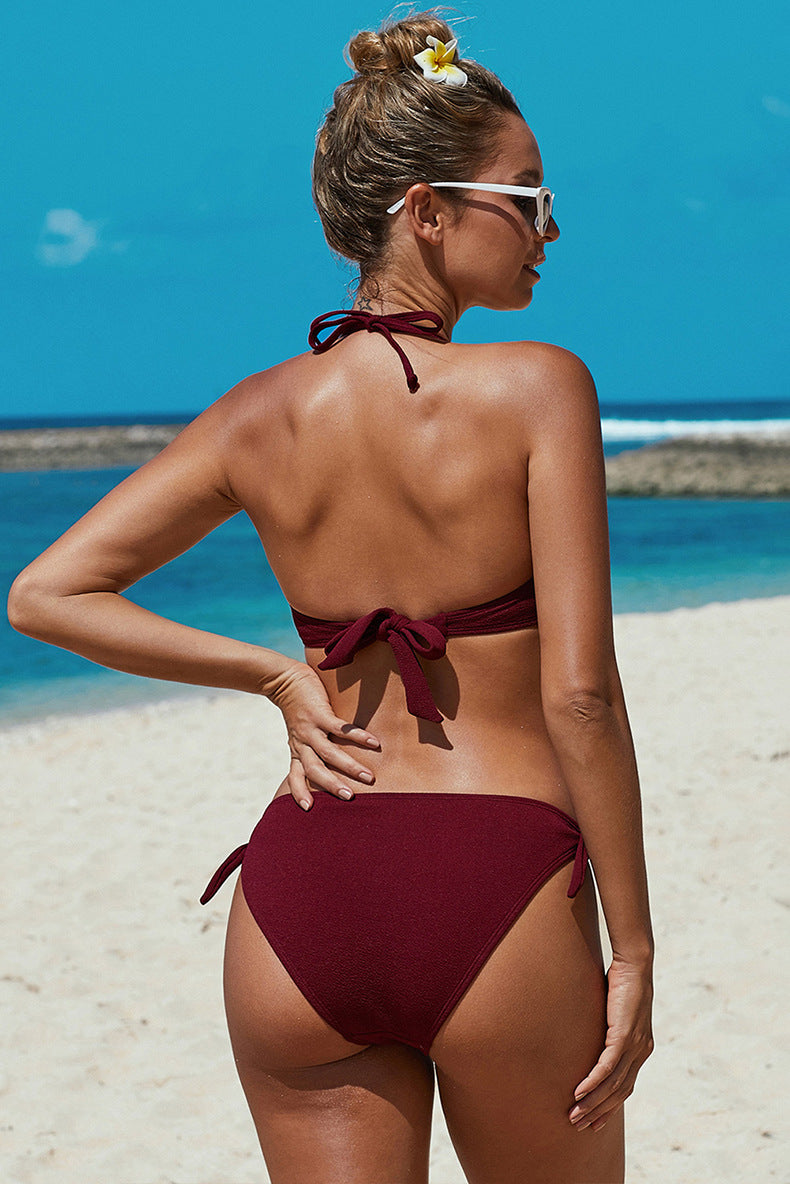 Sexy Two Pieces Swimming Bikinis Swimwear - fashionshoeshouse
