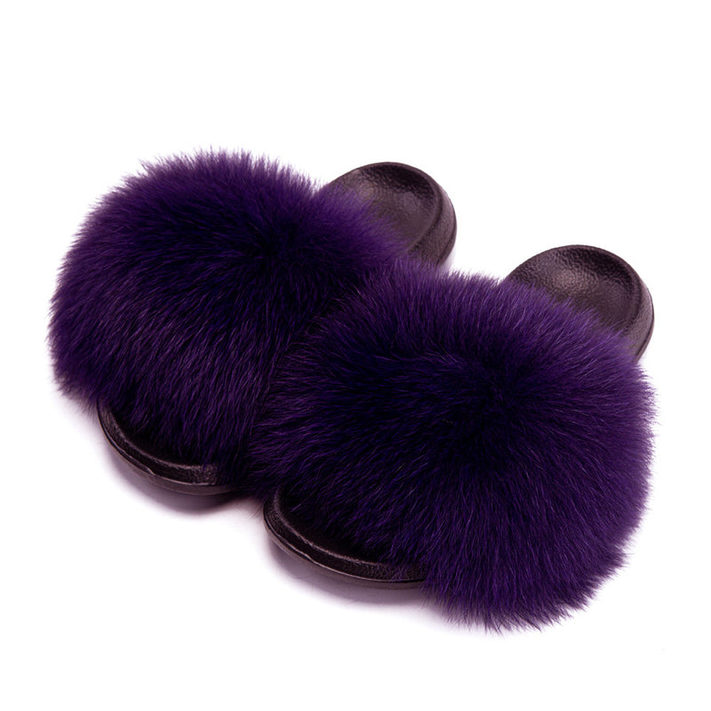 Women House Fashion Fur Slide Sandals
