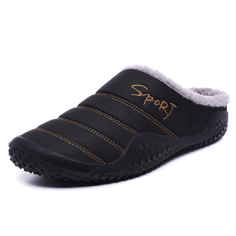Men Fashion Keep Warm Cotton Fur Slipper