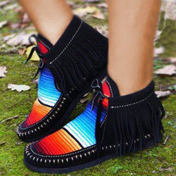 Women Winter Fall Ankle Short Fringe Boots