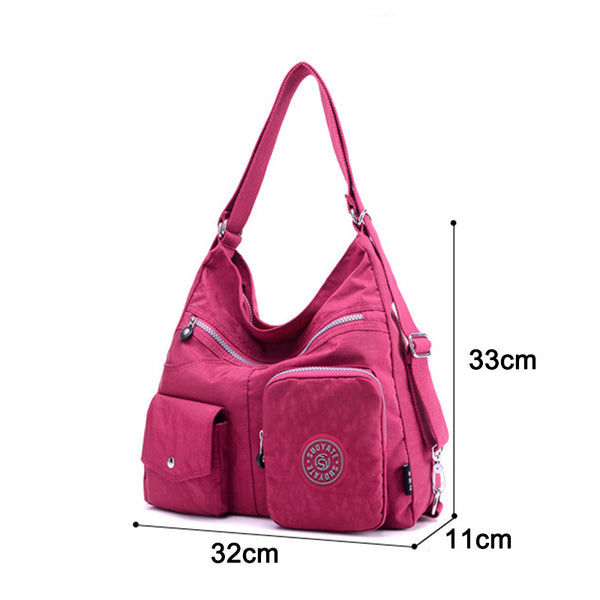 Waterproof Double Shoulder Bag Women Nylon Bag High Quality - fashionshoeshouse