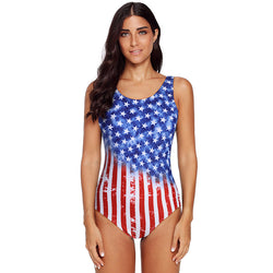 American Stars Red White And Blue Bathing Suit - fashionshoeshouse