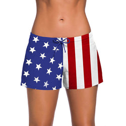 Women Stars & Stripes Trunks One Piece Swimsuits - fashionshoeshouse