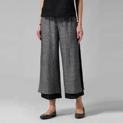 Casual Loose Wide Leg Black Pants Women - fashionshoeshouse