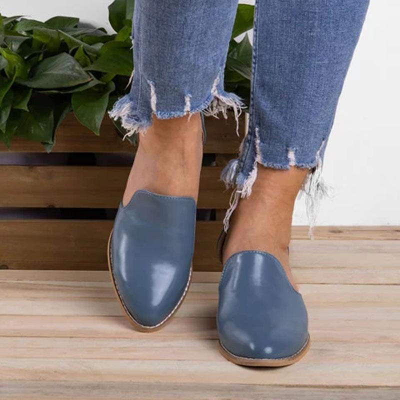 England Style Women Pointed Toe Chunky Hollow Ankle Boots - fashionshoeshouse