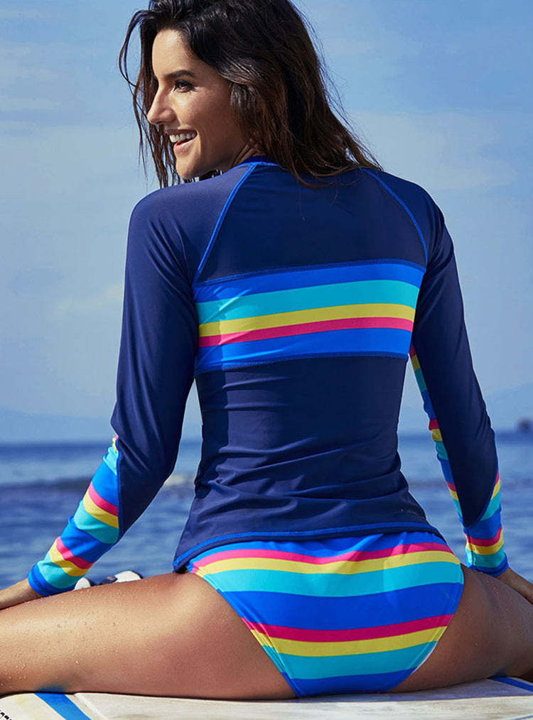 Quick Drying Long Sleeve Sun Protection Surfing Large Size Bathing Suits - fashionshoeshouse