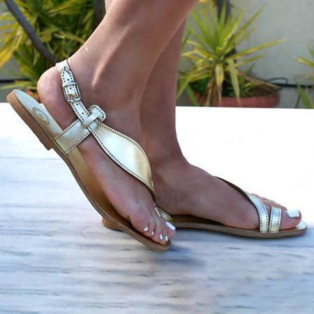 Women Casual Ankle Strap Flat Beach Sandals - fashionshoeshouse
