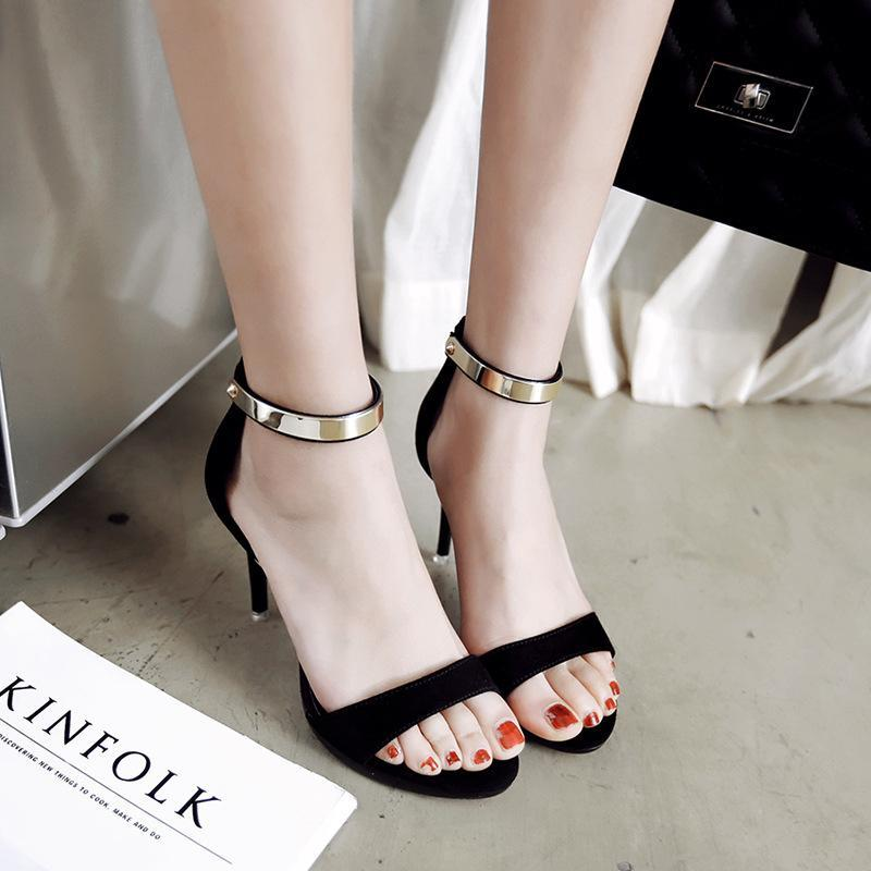 Foot Ring Belt Lace Up Open Toe Yellow Women Sandals - fashionshoeshouse