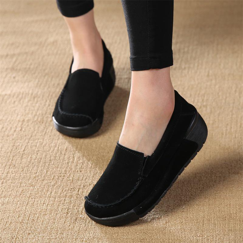 bd0152753d4 Suede Slip On Loafers Lazy Casual Flat Shoes For Women - fashionshoeshouse