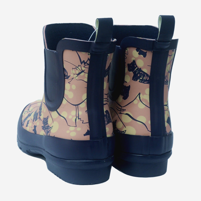 Women's natural rubber chelsea rain boots anti-slip fashion rain boots