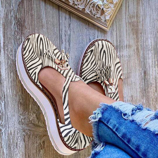 Women Hollow Breathable Casual Platform Tassel Sandals