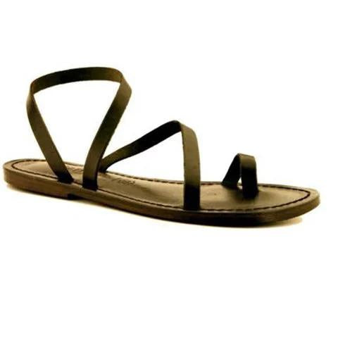 Fashion Toe Ring Flat Strappy Sandals For Women - fashionshoeshouse