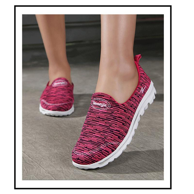 Spring Summer Portable Antiskid Breathable Slip On Shoes For Women - fashionshoeshouse