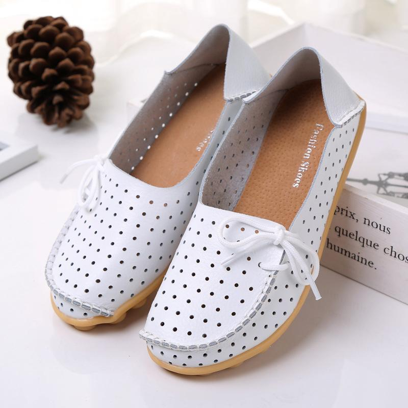 20 Colors Summer Hollow out Breathable Flat Shoes for Women - fashionshoeshouse