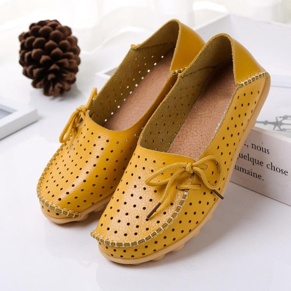 10 Colors Breathable Hollow out Loafers for Women Driving - fashionshoeshouse