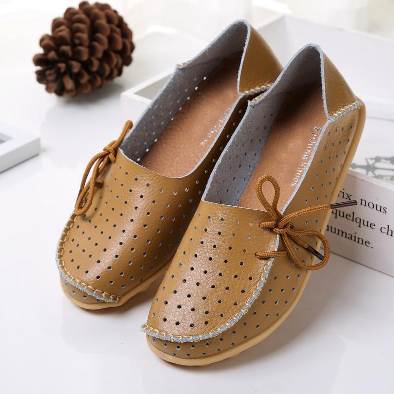 20 Colors Hollow out Breathable Loafers for Women - fashionshoeshouse
