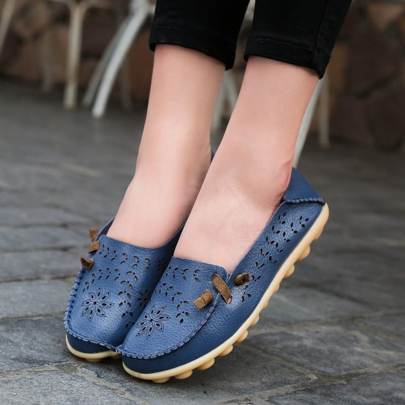 Hollow up Breathable Loafers for Women Spring Summer Autumn - fashionshoeshouse