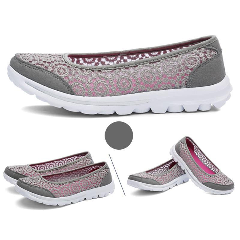 Lace Spring Summer Hollow Out Breathable Soft Loafers For Women - fashionshoeshouse
