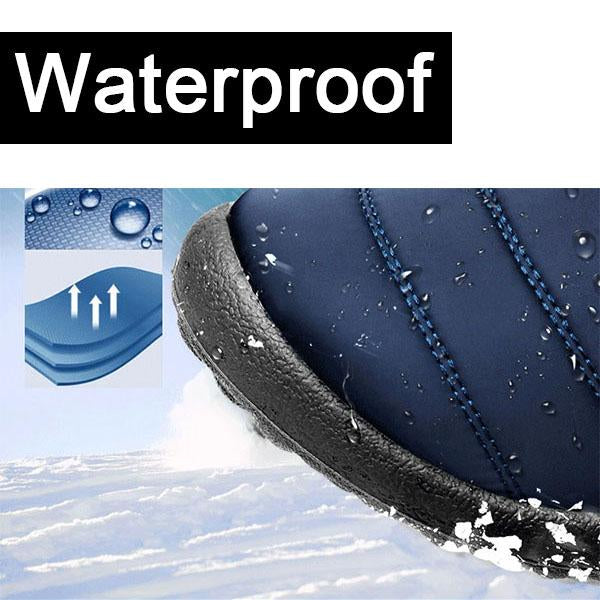 Waterproof Cloth Slip On Snow Boots For Women - fashionshoeshouse
