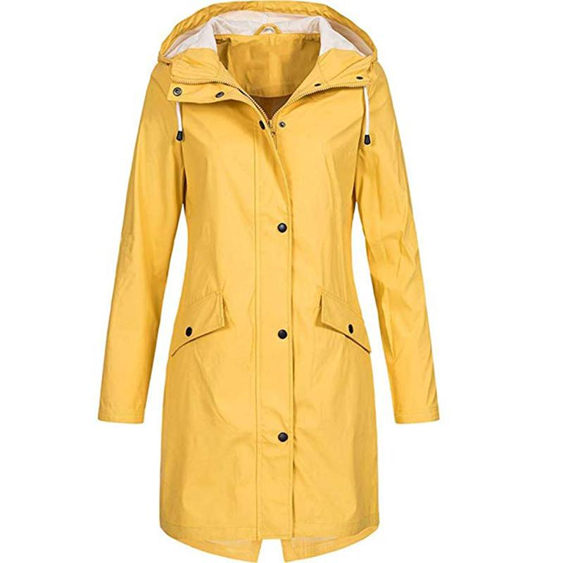 Outdoor Waterproof Hooded Slim Coats - fashionshoeshouse