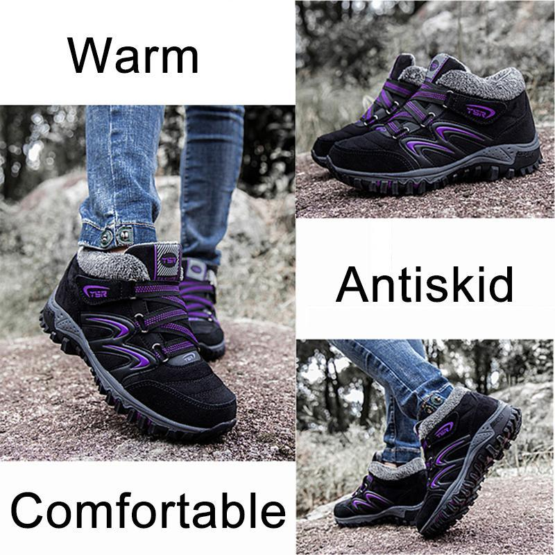 Comfortalbe Antiskid Fur Lining Low Heel Ankle Boots For Women - fashionshoeshouse