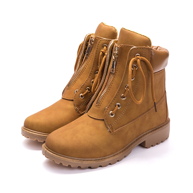Womens Casual Lace-up Boots Ankle Boots