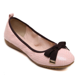 Snake Scales Pattern Big Size Pink Flat Shoes For Women - fashionshoeshouse