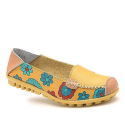 Spring Floral Loafers for Women Non-slip Flat Driving Shoes - fashionshoeshouse