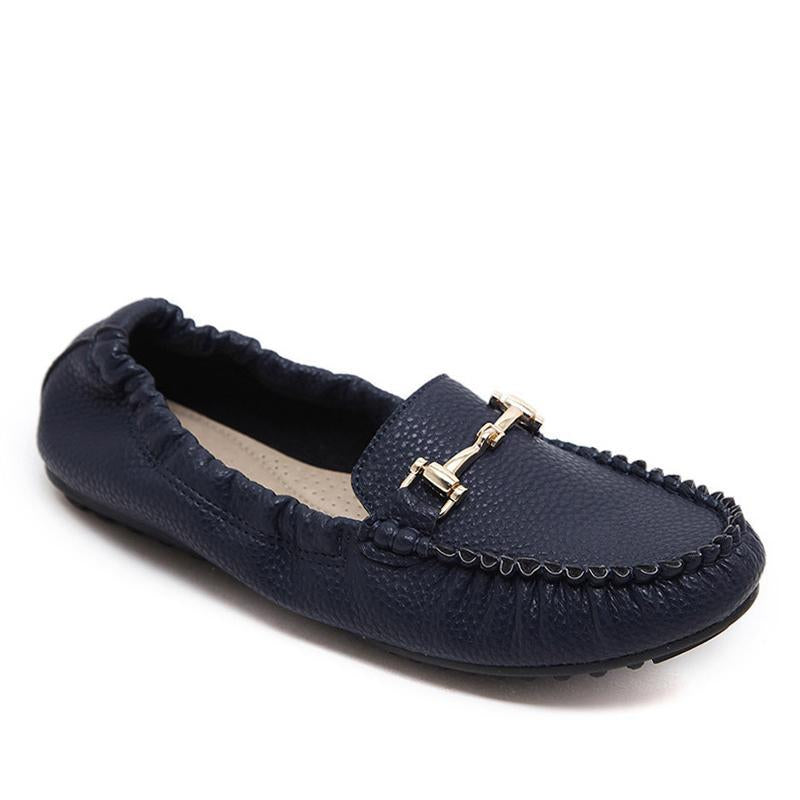 Women Penny Loafers Slip-on Soft Driving Flat Shoes - fashionshoeshouse