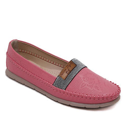 Vintage Pink Loafers for Women Lightweight Comfort Walking Shoes - fashionshoeshouse