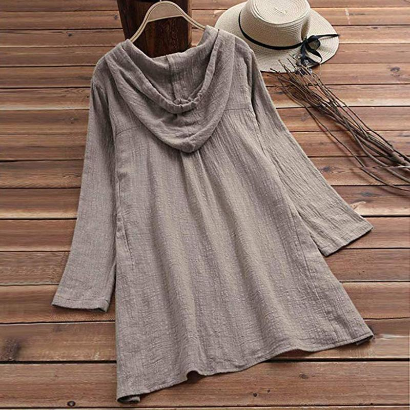 Loose Large Size Hooded Dress - fashionshoeshouse