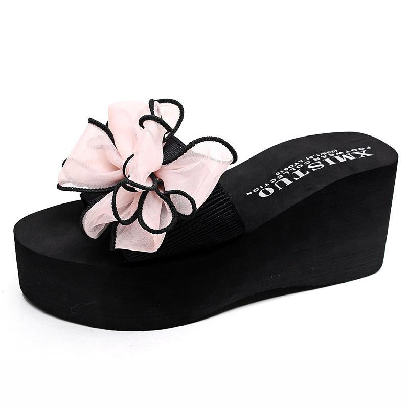 7 Colors 2 3/4 Inch High Chunky Heel Slippers For Women - fashionshoeshouse