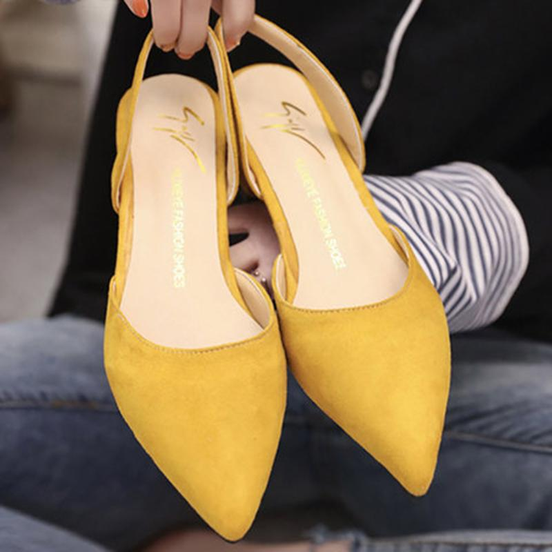 Suede Spring/Fall Low Heel Casual Pumps - fashionshoeshouse