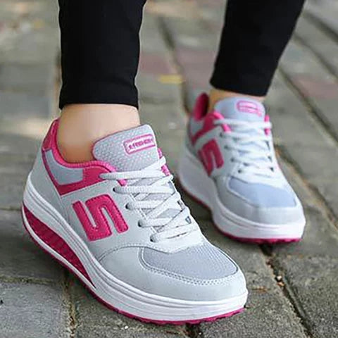 Women Running Comfortable Platform Sport Sneakers Shoes - fashionshoeshouse
