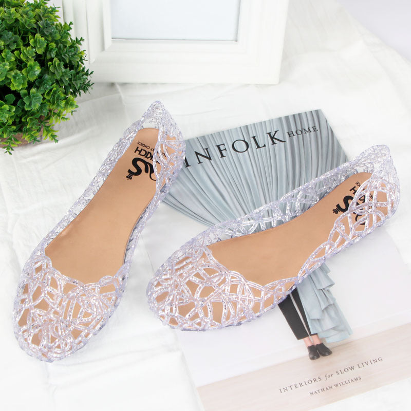 Women Soft Hollow Out Jelly Clear Sandals
