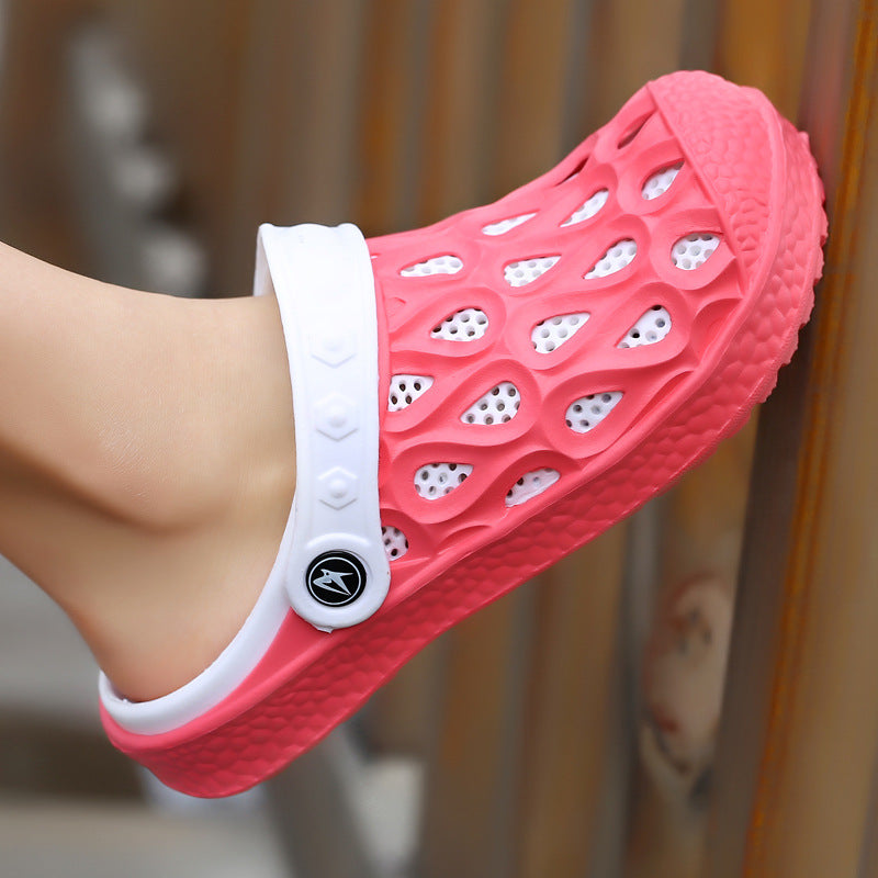 Summer Casual Hole Breathable Women Slide Sandals