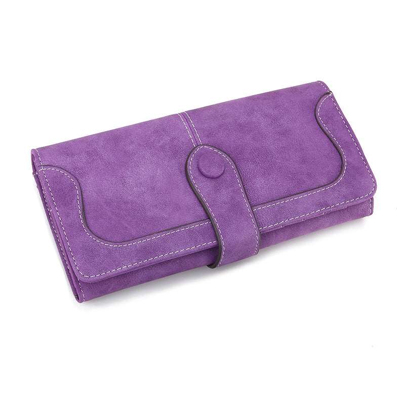 Many Departments Suede Long Wallet Lady Purse High Quality Female Wallets - fashionshoeshouse