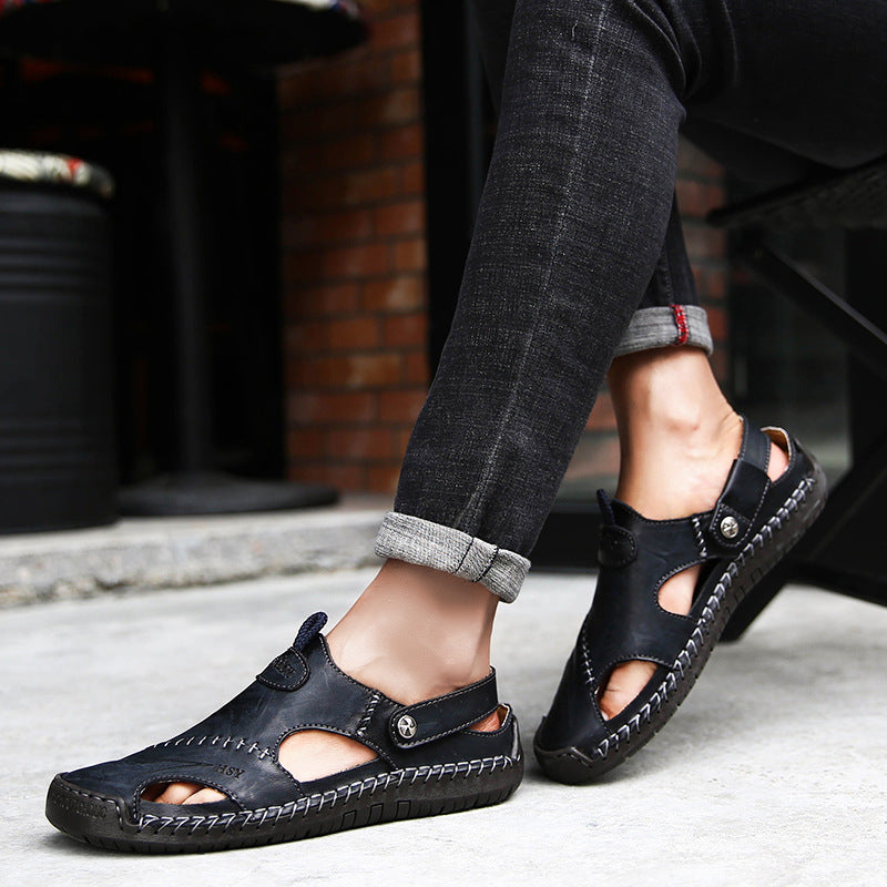 Men Summer Outdoor Stitching Soft Beach Sandals - fashionshoeshouse