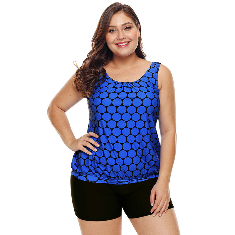 Round Dots Low Waisted Plus Size Swimsuits - fashionshoeshouse