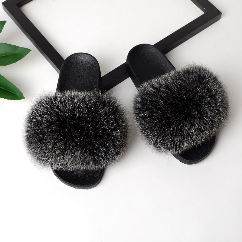 Women Home Fashion Fur Slide Sandals