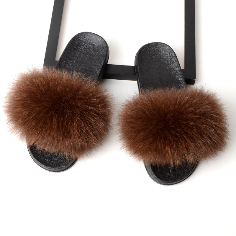 Women Summer Slides Casual Fur Slide Sandals