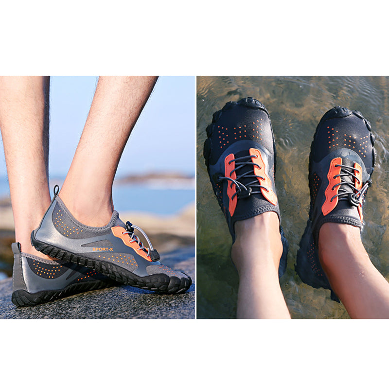 Men Breathable Quick Drying Water Hiking Barefoot Sandals - fashionshoeshouse