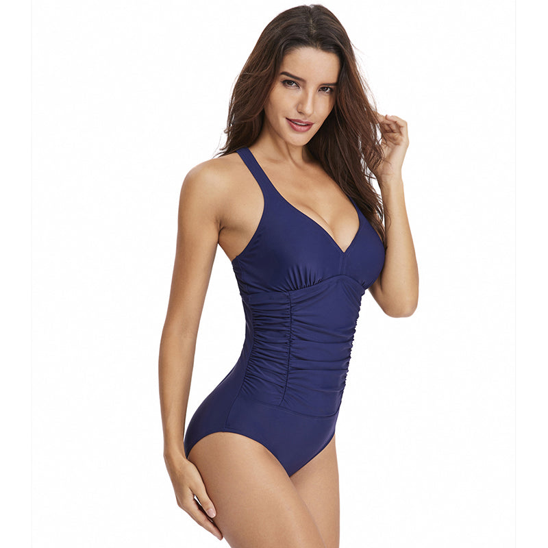 Women 2020 Cover Belly One Piece Swimsuit - fashionshoeshouse