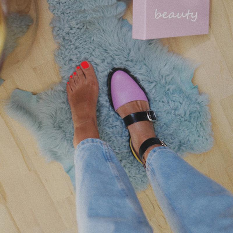 2020 New Fashion Trends Outfits Low Heel Shallow Buckle Sandals - fashionshoeshouse