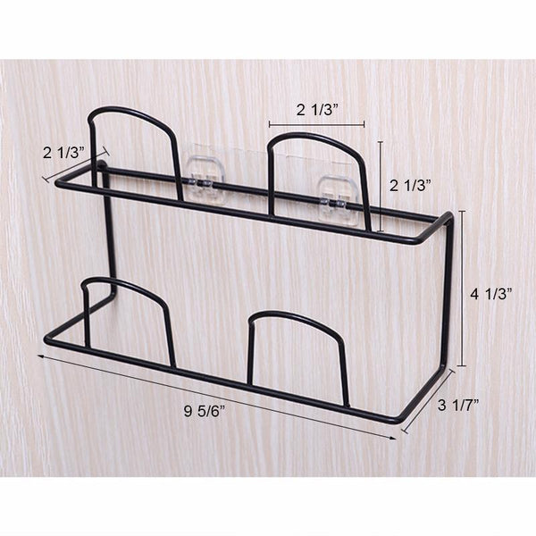 Bathroom Bedroom Pure Color Two Layers Shoes Rack - fashionshoeshouse